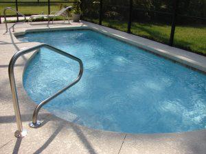 piscine creusée en forme de rein